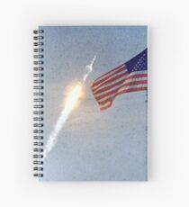 Lift Off - Apollo 11 Artwork / Digital Painting Spiral Notebook