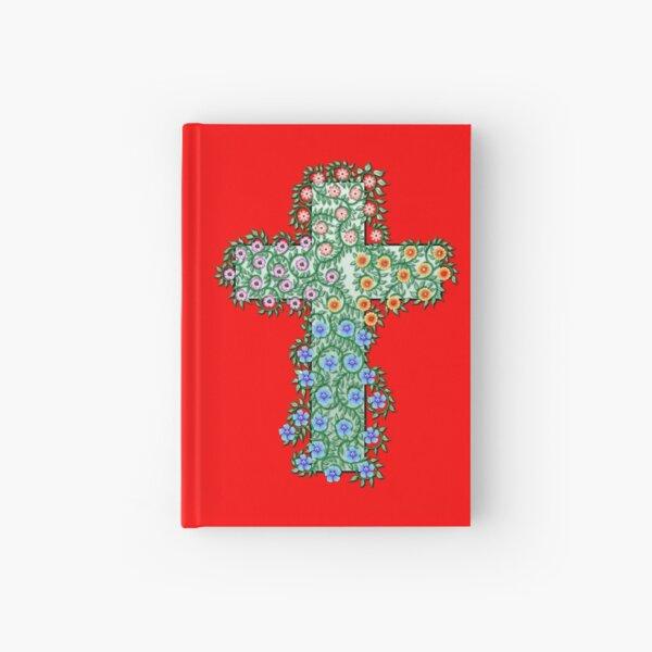 Kreuz mit Blumen und Ranken Notizbuch