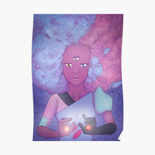 Cotton Candy Garnet Poster