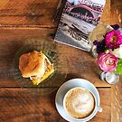 Coffee and Breakfast with Notebook by carlacardello