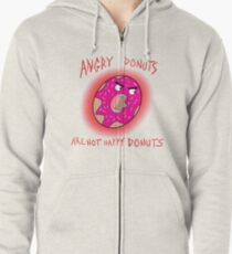 Angry Donuts Zipped Hoodie