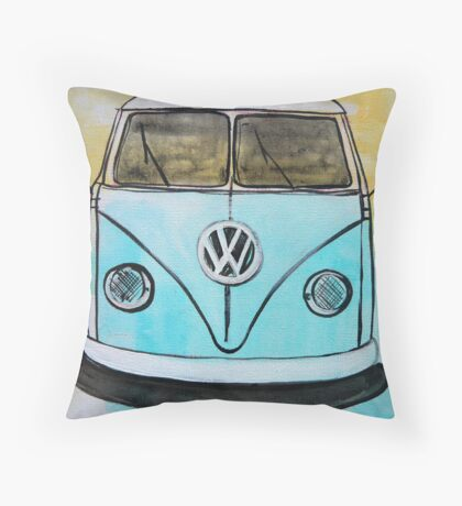 old camper Throw Pillow