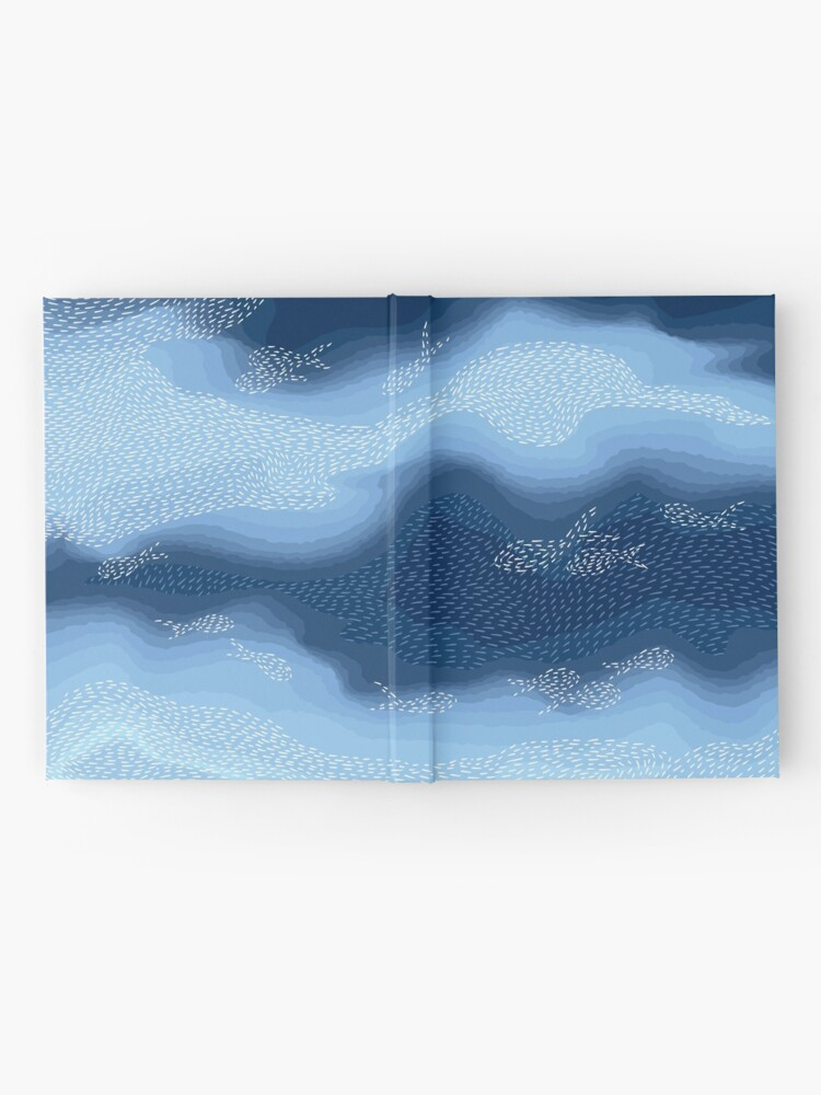 Alternate view of Sea - Fish in the blue Hardcover Journal