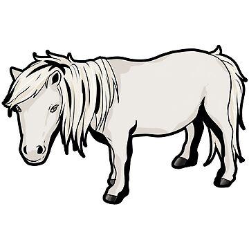 Shetland pony horse horseriding white present by Moonpie90