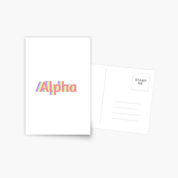 Alpha Delta Pi Geometric Luggage Tag