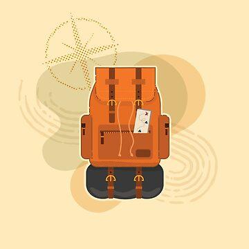 Aventura en la espalda - Ilustración de mochila de amandaweedmark