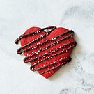 Red Velvet Heart Cookie by carlacardello