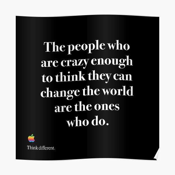 Steve Jobs Quote 9 Change The World Poster Motivational Inspirational Picture