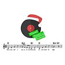 Tinsel Tunes Logo with Music Staves by tinseltunes