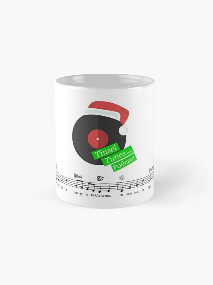 Alternate view of Tinsel Tunes Logo with Music Staves Classic Mug