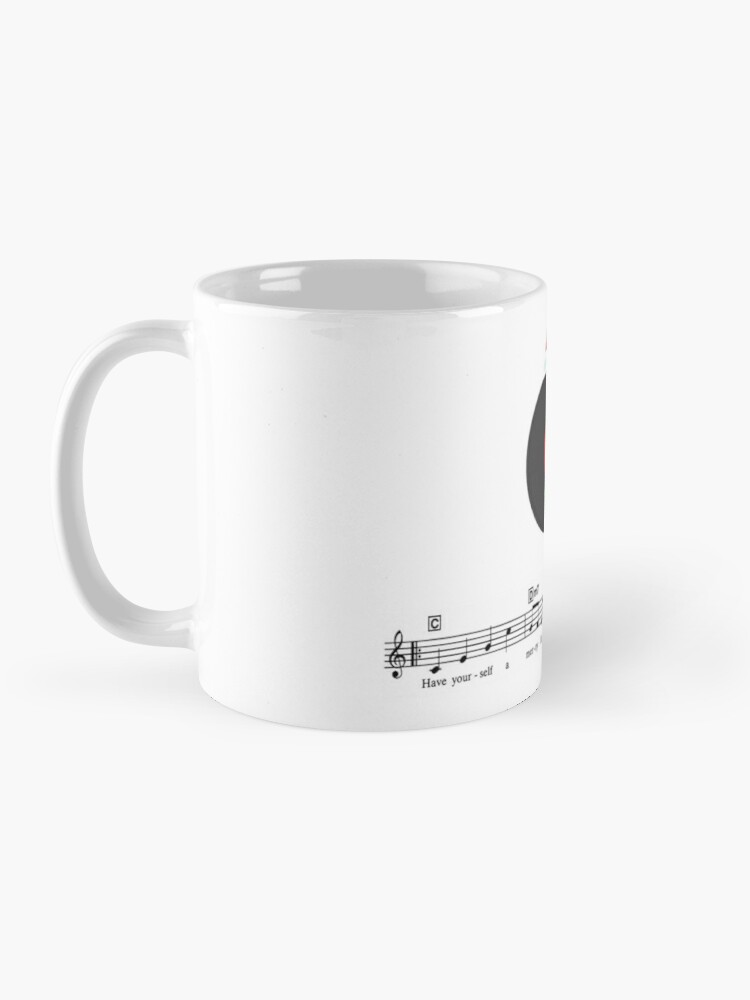 Alternate view of Tinsel Tunes Logo with Music Staves Mug
