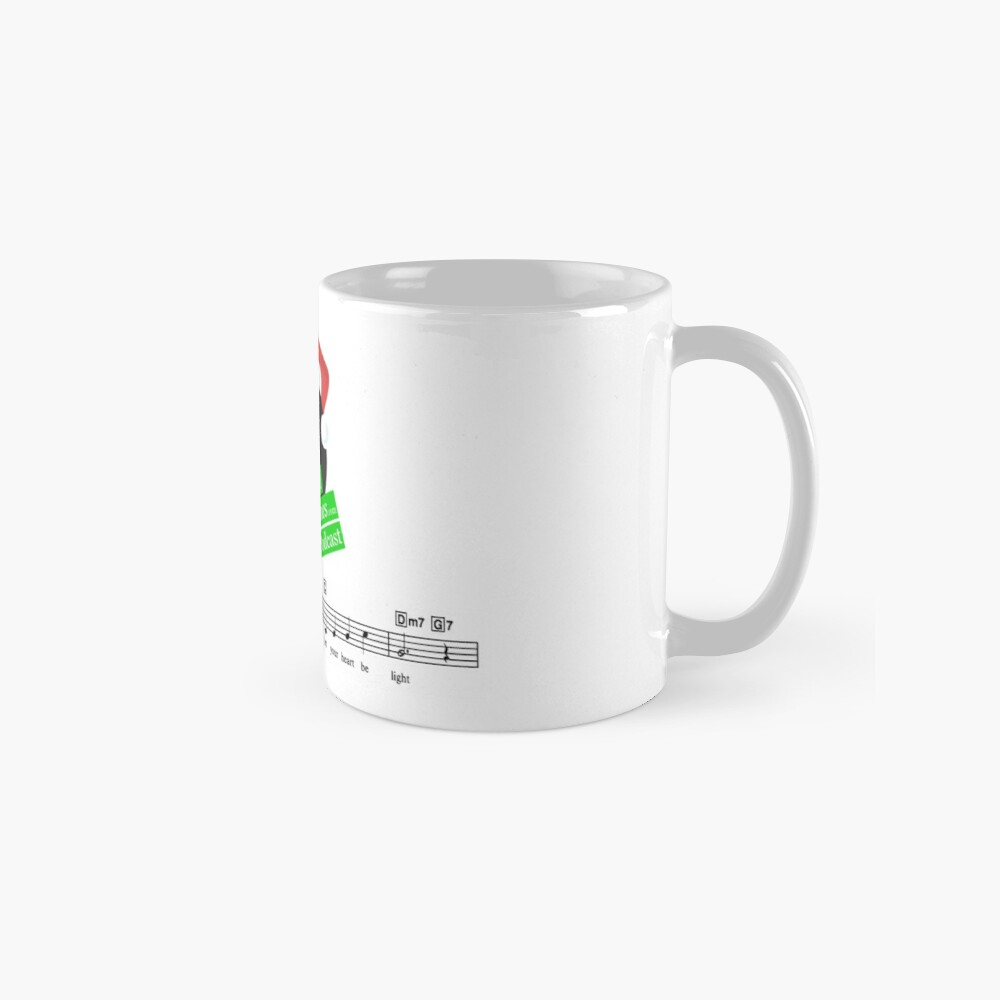Tinsel Tunes Logo with Music Staves Classic Mug