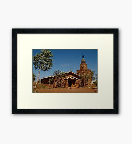 Balgo Hills Stone Church,Tannami Track,WA Framed Print