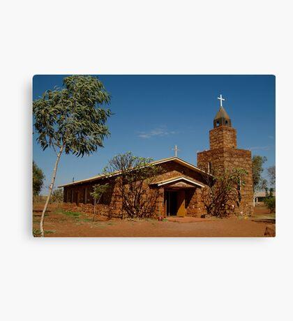 Balgo Hills Stone Church,Tannami Track,WA Canvas Print