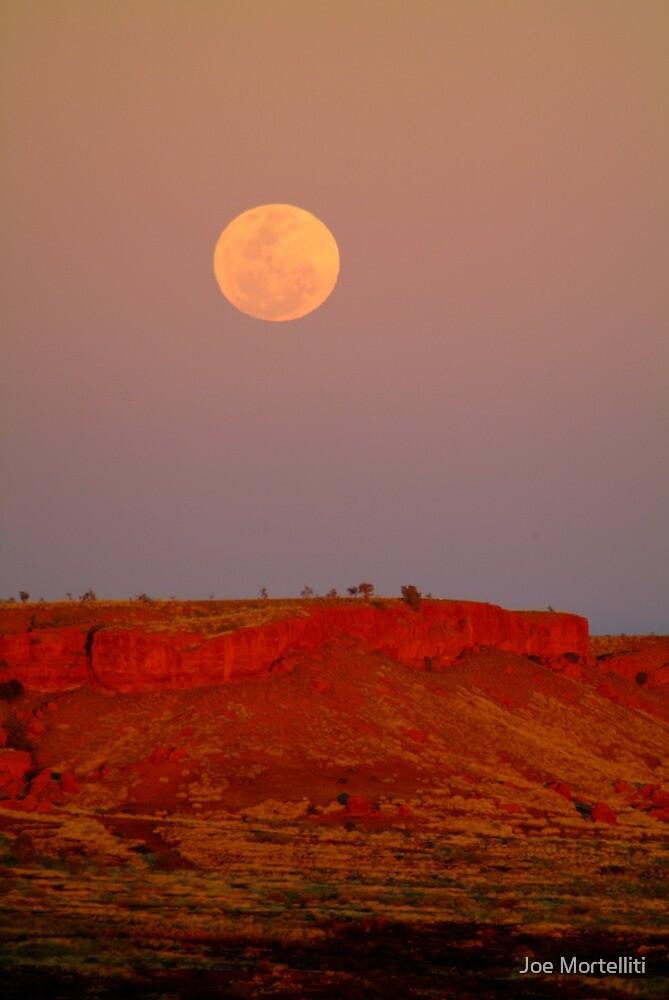 Balgo Hills Moon Rise,WA by Joe Mortelliti