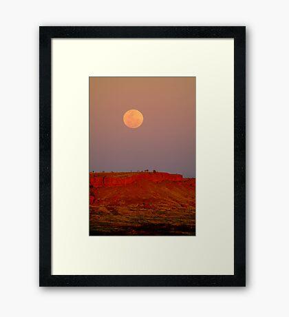 Balgo Hills Moon Rise,WA Framed Print