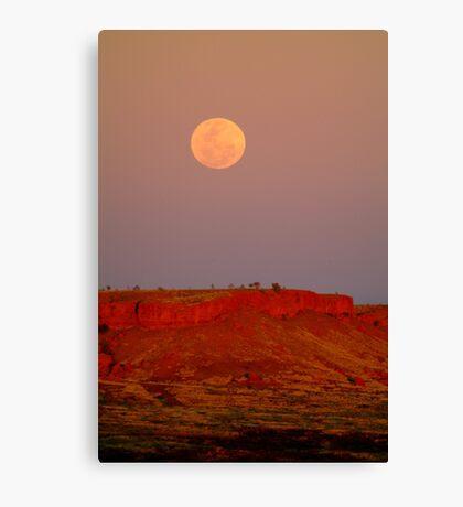 Balgo Hills Moon Rise,WA Canvas Print