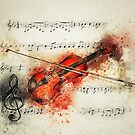 Violin Music Notes  by mimio2009