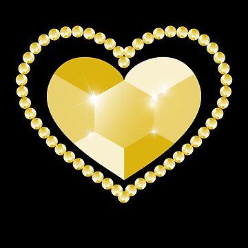 Flip sequin gold heart by Diardo