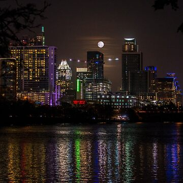 Austin, Texas Full Moon by oz10