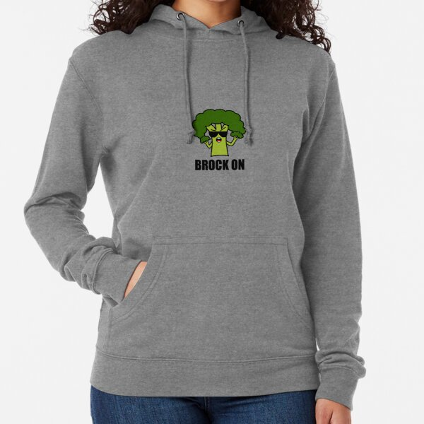White Broccoli is My Spirit Animal Unisex Adult Hooded Pullover Sweatshirt