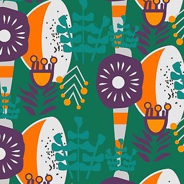 Purple, green, orange botany by cocodes