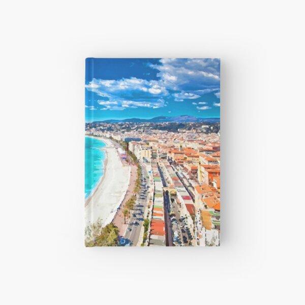 Nice, France Coastline Watercolor Hardcover Journal