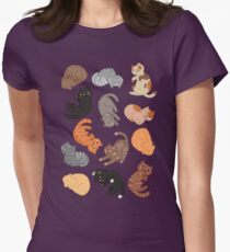 Cats and Cats and Cats Women's Fitted T-Shirt
