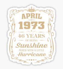 April 1973 Sunshine Mixed With A Little Hurricane Sticker