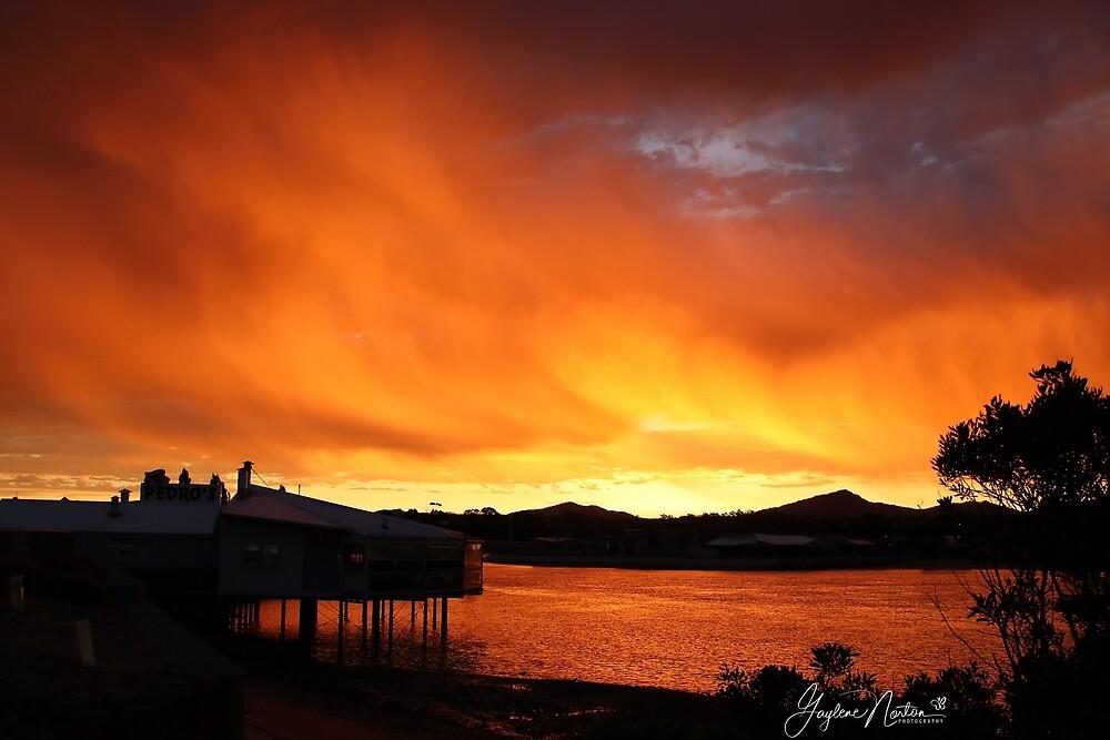 bushfire smoke enhanced the sunset by Gaylene Norton