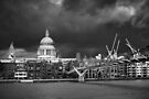 St. Paul's against The Sky BW by Andy Freer