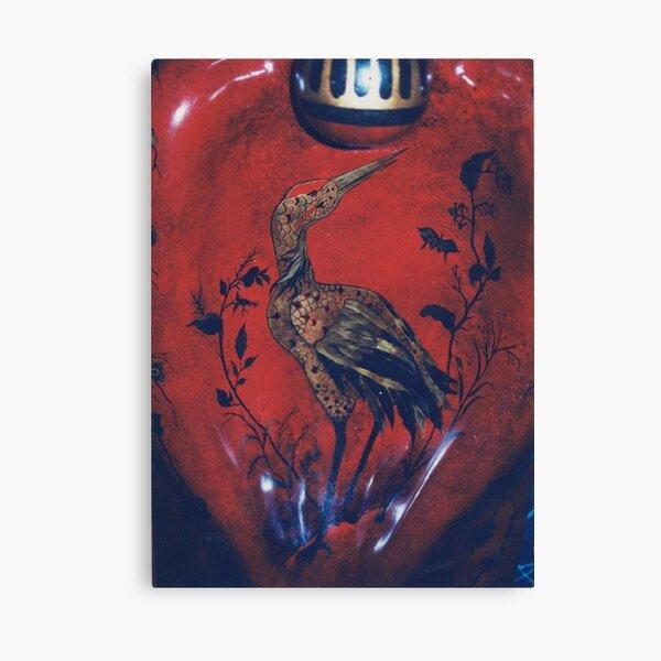 #Heron, #bird, #painting, #art, #colorimage, #clothing, # ancient, #spirituality Canvas Print