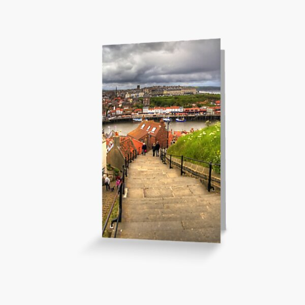 Top of the Whitby Steps Greeting Card