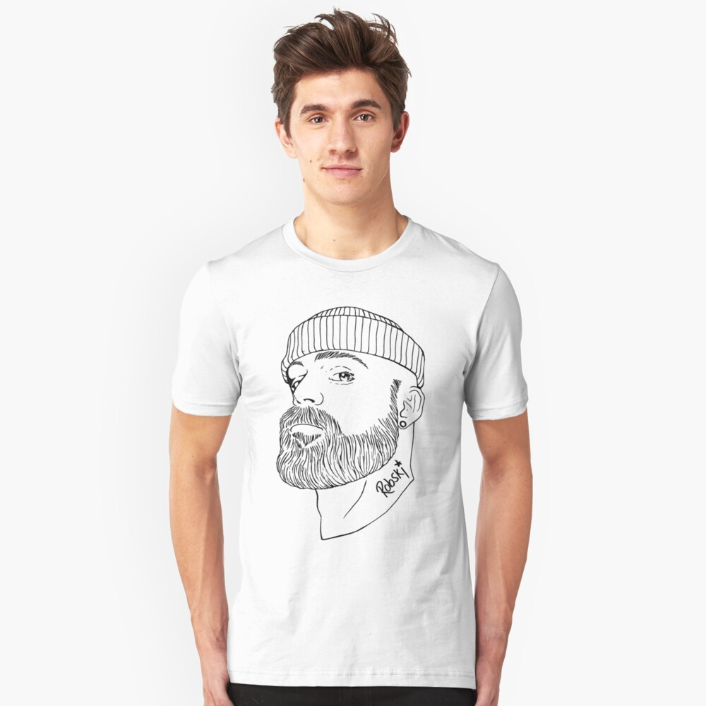 Beanie Boy - Black lines Slim Fit T-Shirt