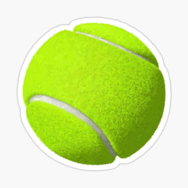 Tennis Ball Round Sticker Sticker