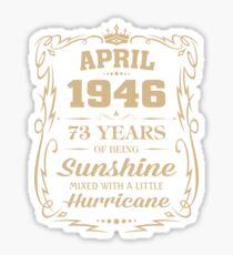 April 1946 Sunshine Mixed With A Little Hurricane Sticker