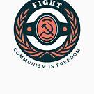 Communism Freedom Badge by Chocodole