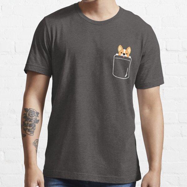 Smiling Corgi In Pocket Essential T-Shirt