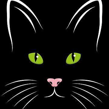 I love cats green eyes pink nose by MarlowLoom