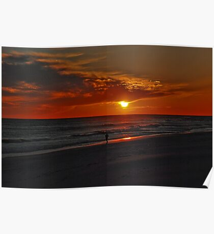 Sunset over the Gulf of Mexico Poster