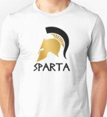 Gold and Black Spartan Helmet Unisex T-Shirt