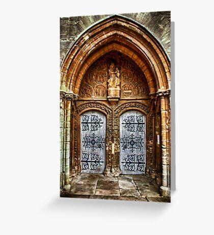 St Marys Church West Porch Door Greeting Card