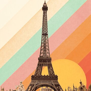 Rainbow Sky Above The Eiffel Tower by florentbodart