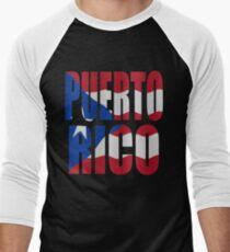 Puerto Rican flag Men's Baseball ¾ T-Shirt