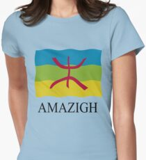 Amazigh flag Womens Fitted T-Shirt