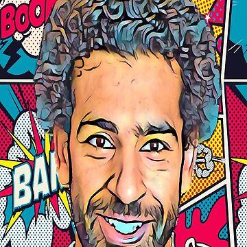 Mo Salah Egyptian King Pop Art by GoldyMaster07