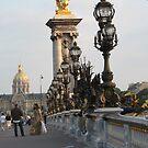 On Pont Alexander III Bridge by Sherry Freeman