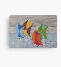 Sailing in the Caribbean rain Canvas Print