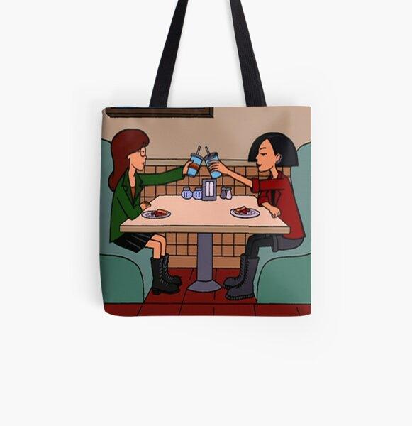 Daria y Jane Pizza Time Bolsa estampada de tela