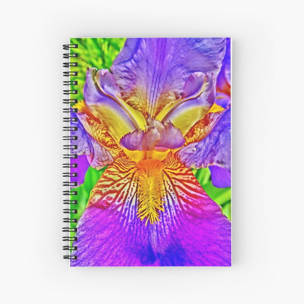 Flight of the Iris Bee, 2 of 4 Spiral Notebook